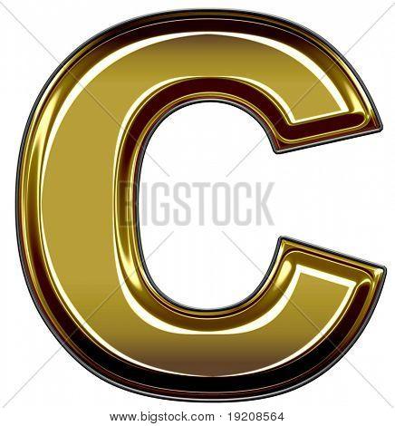 gold upper case C