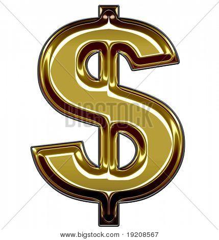 gold dollar symbol