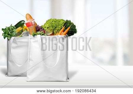 Vegetables bread variety bags healthy food organic food organic product