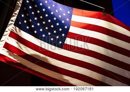 Photo of the American flag background of black corolor