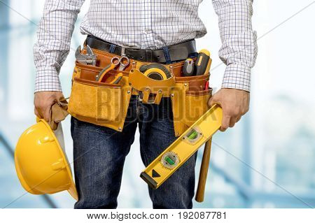 Tool worker belt background object isolated business