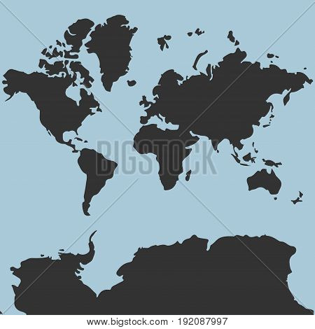 map of the world for web site template detailed location covers annual reports flat design world map image