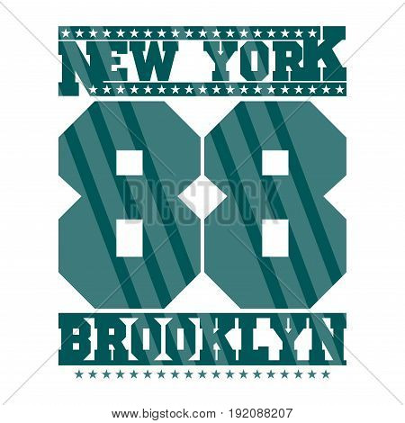 New York typography design graphic t-shirt print clothing graphic design emblem