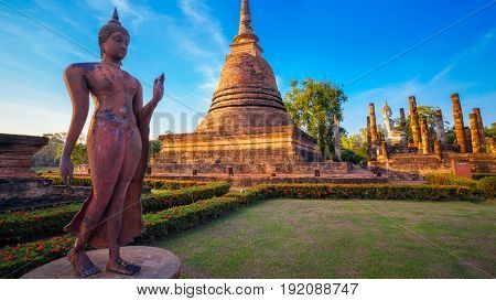 Wat Sa Si Temple at Historical Park, a UNESCO World Heritage Site in Thailand