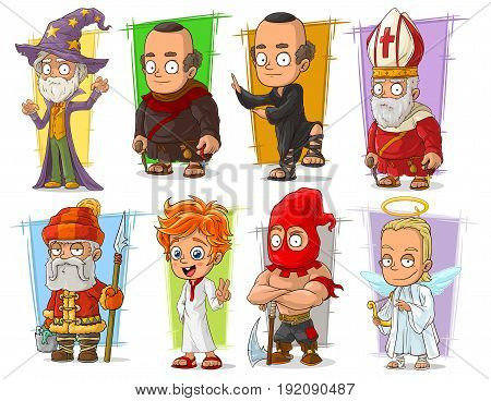Cartoon cool funny different characters big vector set. Vol 4