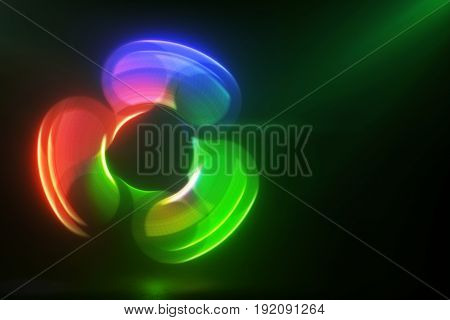 Glowing Rotating Red Green And Blue Spinner Illustration