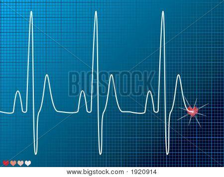 Heart Beat oscuro médico