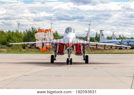 Kubinka, Russia - September 7, 2016: MiG-29 aerobatic group