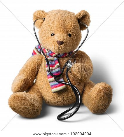 Bear teddy stethoscope teddy bear stuffed animal doctor visit bear cub