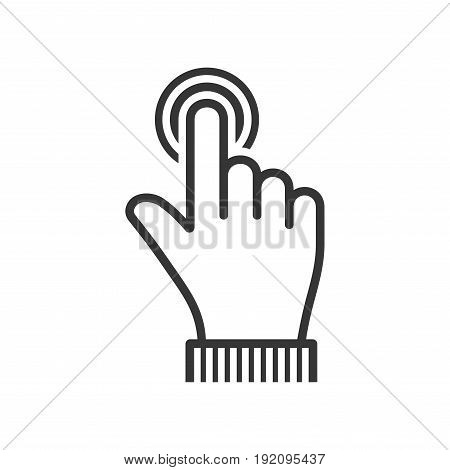 Finger Touch Icon on White Background. Vector illustration