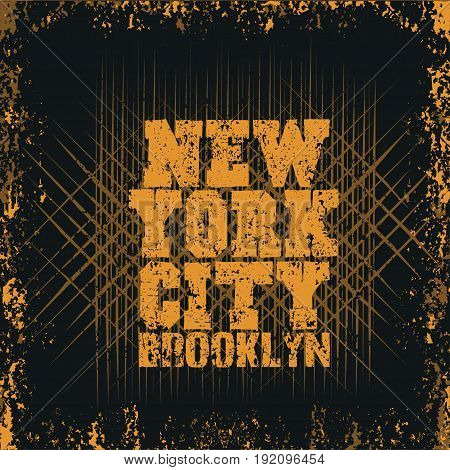 New York typography t-shirt brooklyn design graphic print clothing graphic design emblem