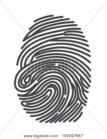 Black and White Vector Fingerprint - Very accurately scanned