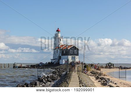 Het Paard lighthouse in Marken The Netherlands
