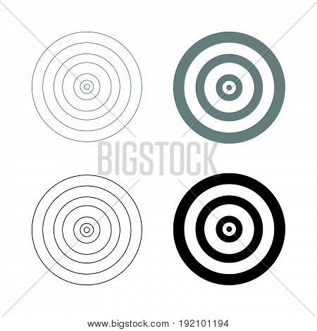 Target   The Black And Grey Color Set Icon .