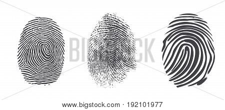 Black and White Vector Fingerprints - Very accurately scanned