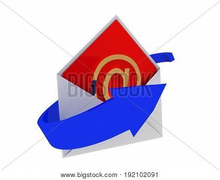 email concept 3d render . 3d rendered illustration
