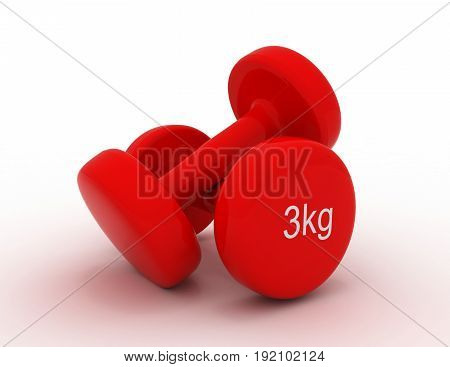 home dumbbell weights for working out . 3d rendered illustration