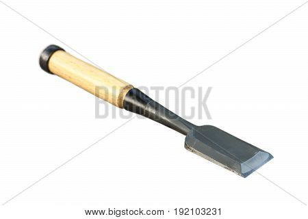 traditional metallic gouge isolated over white background