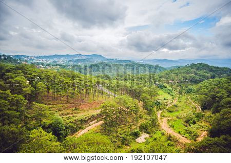 Fantastic Landscape Of Dalat Mountains, Viet Nam, Fresh Atmosphere, Villa Among Forest, Impression S