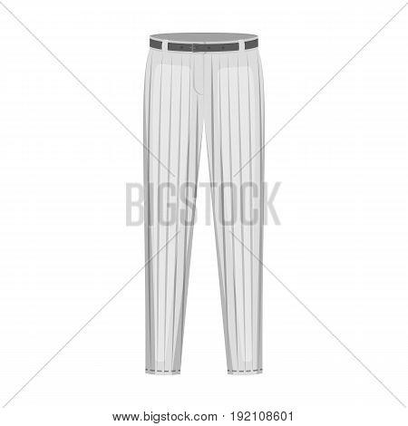 Uniform pants baseball. Baseball single icon in monochrome style vector symbol stock illustration .