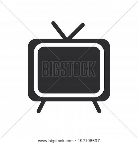 Cable TV icon filled flat sign solid glyph pictogram vector illustration