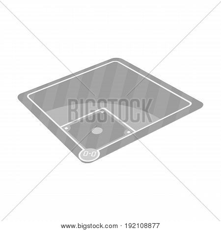 Baseball court. Baseball single icon in monochrome style vector symbol stock illustration .