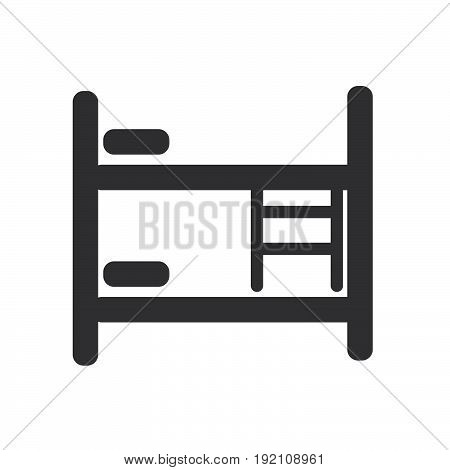 Bunk bed icon filled flat sign solid glyph pictogram vector illustration