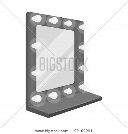 Mirror in the make-up room.Making movie single icon in monochrome style vector symbol stock illustration .