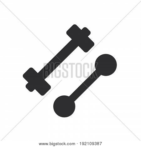 Gym dumbbell icon filled flat sign solid glyph pictogram vector illustration