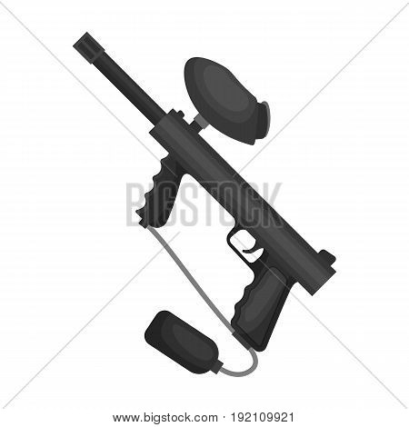 Marker for paintball.Paintball single icon in monochrome style vector symbol stock illustration .