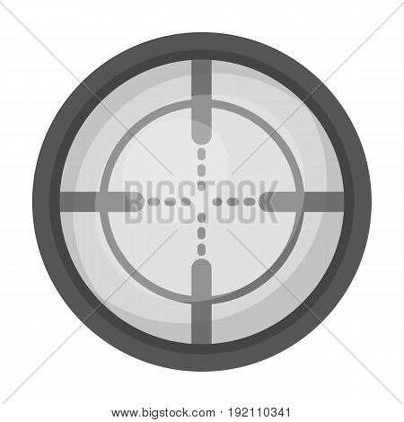 Optical sight.Paintball single icon in monochrome style vector symbol stock illustration .