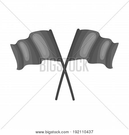 Red and blue flags.Paintball single icon in monochrome style vector symbol stock illustration .