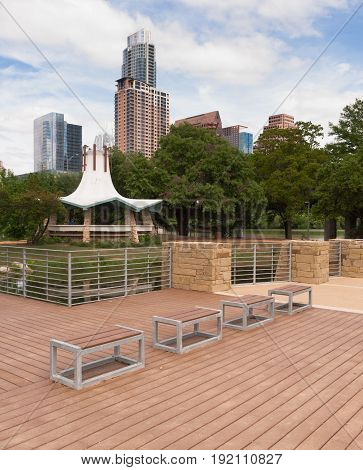 No people show up at the park in theis scene Austin Texas