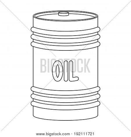 Barrel of oil.Oil single icon in outline style vector symbol stock illustration .