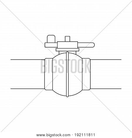 Pipeline shutter.Oil single icon in outline style vector symbol stock illustration .
