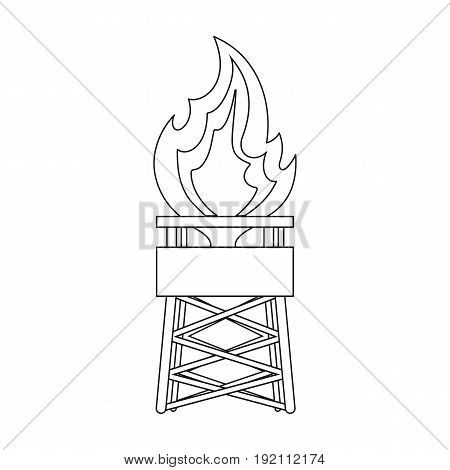 Gas tower.Oil single icon in outline style vector symbol stock illustration .