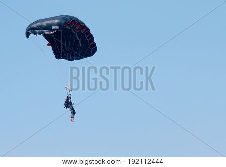 Jumper With Black Open Parachute - Text Area Available
