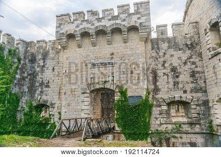 Entrance To The Military Fortress Of Mamula. Montenegro, Boka-kotor Bay.