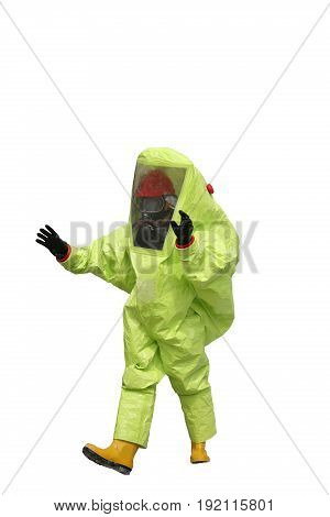 Protective Suit With Air Filtering System To Breathe During A Fi