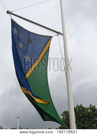 Solomon Island Flag Of Solomon Islands