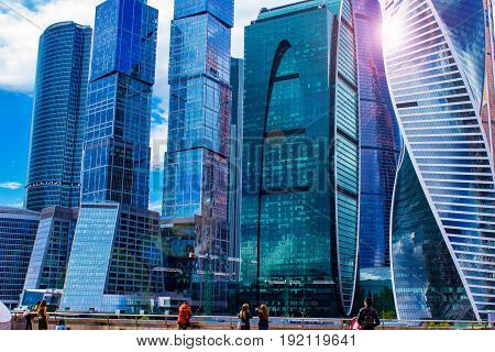 Moscow-city (Moscow international Business center), Russia, the complex of buildings