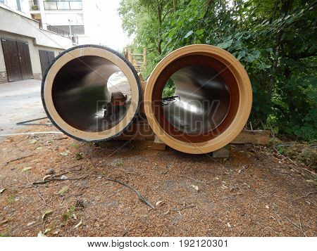 Two Earthenware Tubes Of Big Dimensions