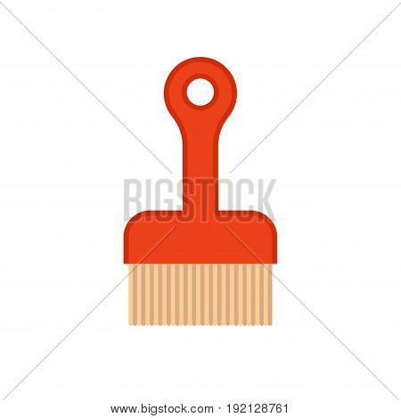 Sweeper isolated. Cleaning accessory. Cleaner object vector illustrator