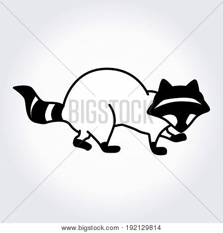 Raccoon icon. Vector illustration for your cute design.