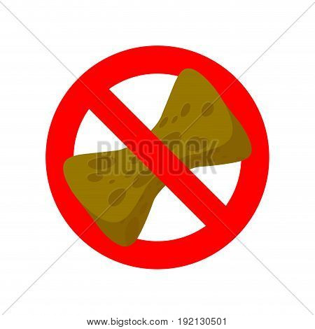 Stop Old Sponge. It Is Forbidden To Use Sponge For Washing. Red Prohibitory Road Sign