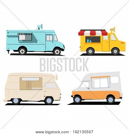Food truck illustration vector designs. playful and colorful