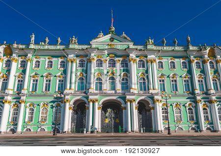 Winter Palace Building Housing Hermitage Museum.