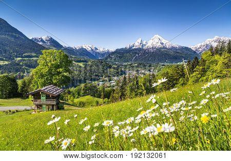 Mountain Landscape In The Bavarian Alps, Berchtesgadener Land, Germany
