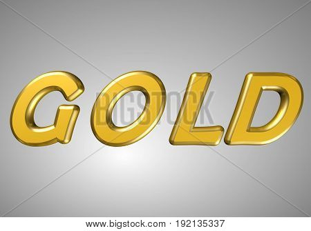 word gold golden letters and letters on a gray background in pidvishuvalnomu state