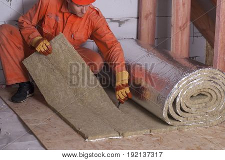 Roll Of Mineral Wool